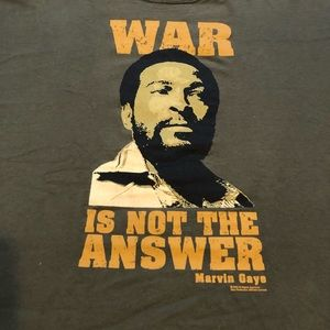 Zion Rootswear Shirts - Marvin Gaye War Is Not the Answer Tee 1X
